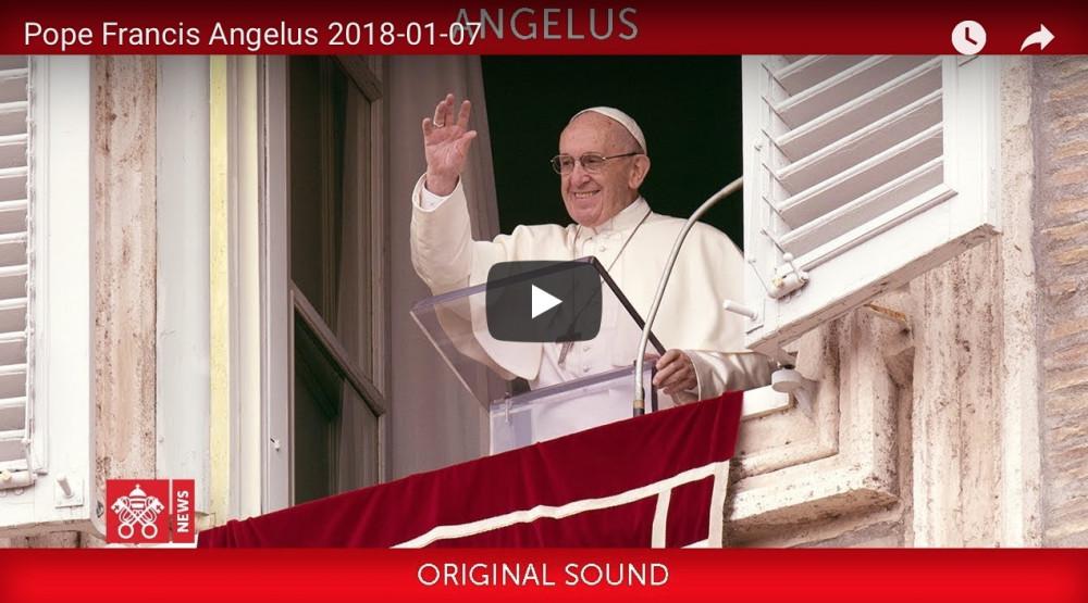 Papa Francesco Angelus 2018-01-06