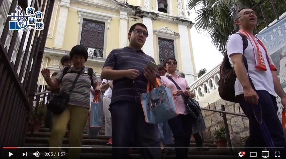 聖老楞佐堂舉辦徒步頌唸玫瑰經活動
