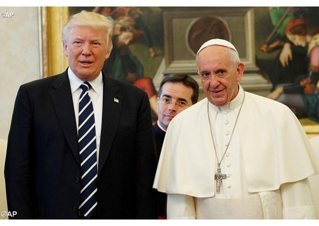 教宗接見美國總統特朗普:共同努力促進生命與和平