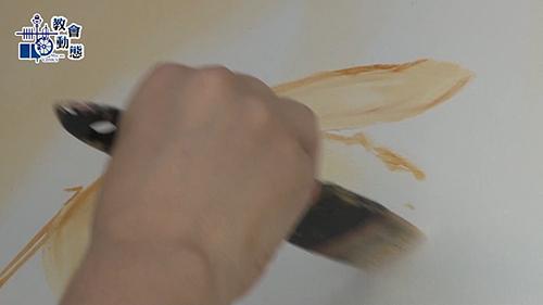 德詩雅修女默觀行畫展現場繪畫及靈修分享