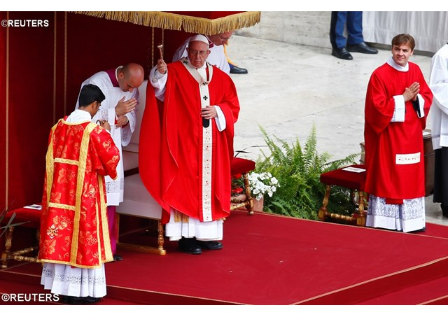 教宗主持聖神降臨節彌撒:教會始於寬恕,異中求同