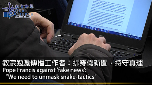 """Pope Francis against fake news: """"We need to unmask snake-tactics"""""""