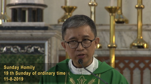 19th Sunday of Ordinary Time (11-8-2019, Year C)