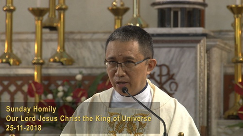 Our Lord Jesus Christ the King of Universe (25-11-2018)