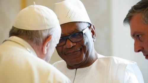 Papa recebe presidente do Mali, Ibrahim Boubacar Keïta