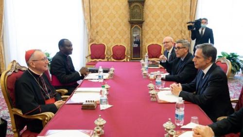 Francisco recebe secretário de Estado dos EUA: afeto e atenção ao povo do país