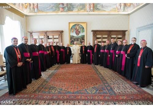 教宗接見加色丁禮教會成員:願天主的仁慈舒緩你們的創傷