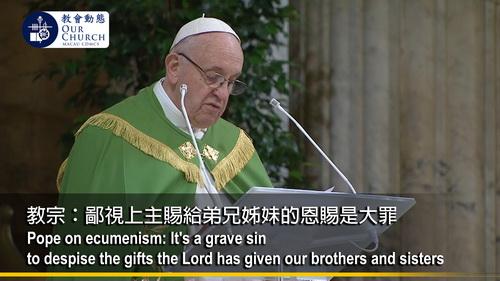 教宗:鄙視上主賜給弟兄姊妹的恩賜是大罪