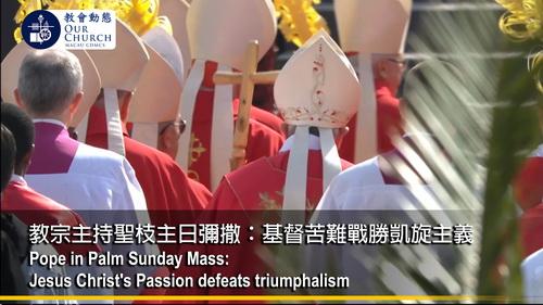 教宗主持聖枝主日彌撒: 基督苦難戰勝凱旋主義
