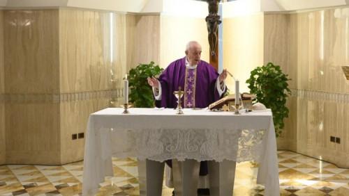 教宗清晨彌撒:值此難關,請為戰勝恐懼祈禱