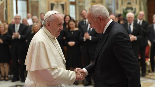 教宗接見哥倫布騎士團成員:你們要成為天主之愛的標記