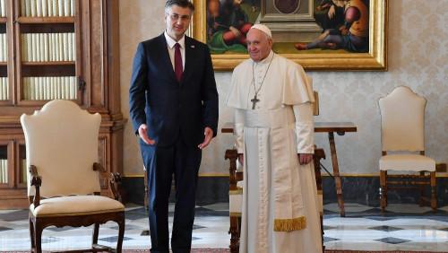 教宗接見克羅地亞總理普蘭科維奇