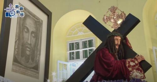 疫情下苦難善耶穌聖像出遊於聖若瑟修院露天操場舉行(21/02/2021)