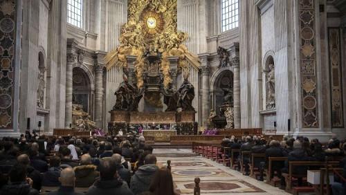教宗將在聖伯多祿大殿內主持聖週禮儀
